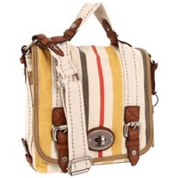 Fossil Maddox Stripe Organizer Flap Cross Body - designer shoes, handbags, jewelry, watches, and fashion accessories | endless.com