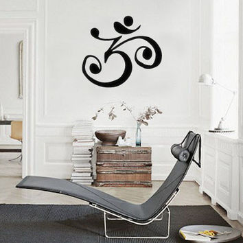 OM Symbol Spiritual Meditation Boho Bohemian Wall Decal Sticker MEDIUM