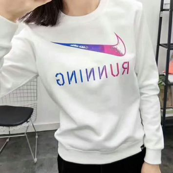 NIKE Fashion Casual long sleeve loose sweater Thick Grey G-A-GHSY-1