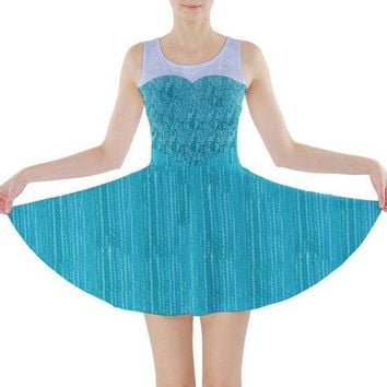 Elsa Frozen Inspired Skater Dress