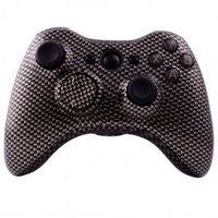 Black Carbon Fiber Custom Controller Shell for XBOX 360