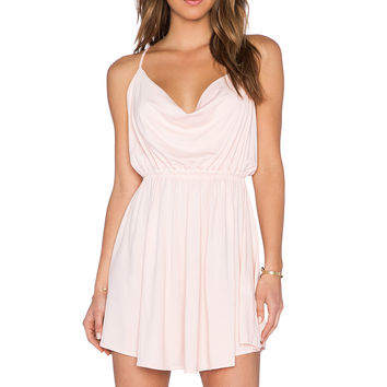 Bobi Modal Jersey Drape Front Dress in Prarie Girl