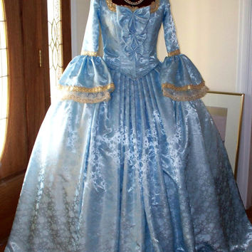Marie Antoinette French Colonial Beethoven Waltz Masquerade Ball Venice  Mardi Gras Panniers Dress Gown Costume