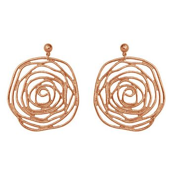 Julie Earrings in Rose Gold