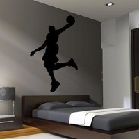 Basketball Wall Decal Decor Art Stickers Michael Jordan Boys Room