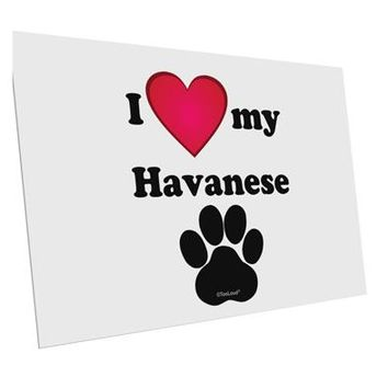 """I Heart My Havanese 10 Pack of 6x4"""" Postcards by TooLoud"""