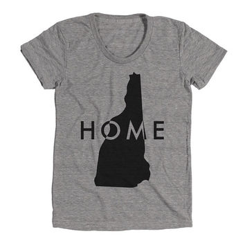 New Hampshire Home Womens Athletic Grey T Shirt - Graphic Tee - Clothing - Gift