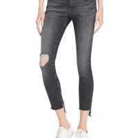 FRAMESkinny Raw Stagger Jeans in Marcy - 100% Exclusive