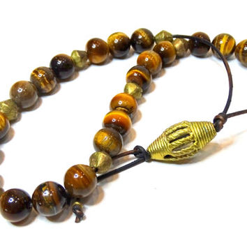 Handcrafted Greek Turkish worry beads of natural Tiger's Eye, Komboloi, wrist malas, meditation beads, prayer beads,yoga beads,malas