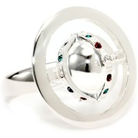 Vivienne Westwood New Orb Sterling Silver Poison Ring