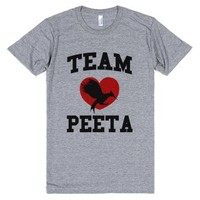 Team Peeta-Unisex Athletic Grey T-Shirt