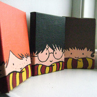 Painted Harry Potter Trio Magnets