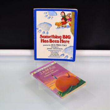 2 Book Lot Something Big Has Been Here Jack Prelutsky James And The Giant Peach