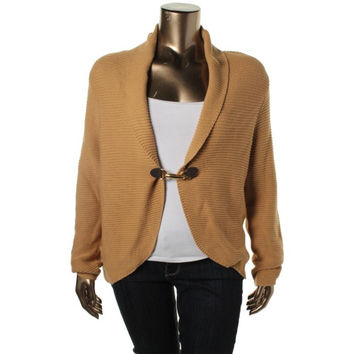 Charter Club Womens Buckle Front Shawl Collar Cardigan Sweater