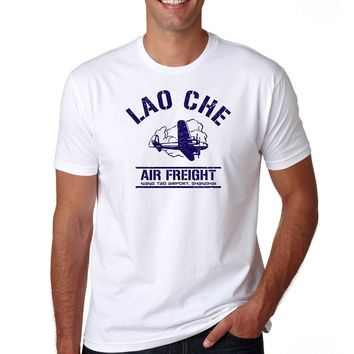 Lao Che Airlines Indiana Jones Raiders of The Lost Ark Tee S-3XL T-Shirt Movie 2018 New Men'S T Shirt Gray Style