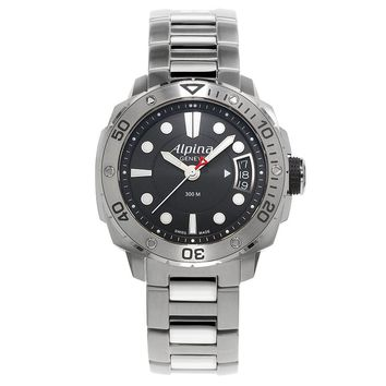 Alpina Diver 300 Lady Black Dial Stainless Steel Watch 240LB3V6B