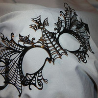 Metallic Web Masquerade Mask