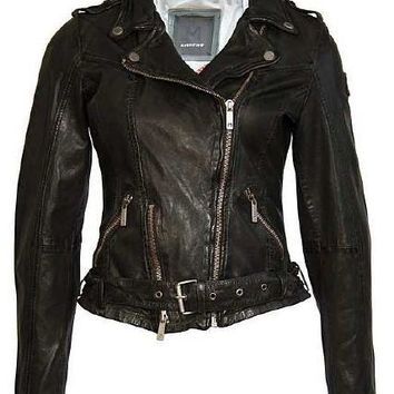 Woman's Biker Jacket - Green