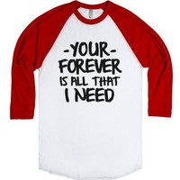 Sleeping With Sirens Baseball Tee-Unisex White/Red T-Shirt