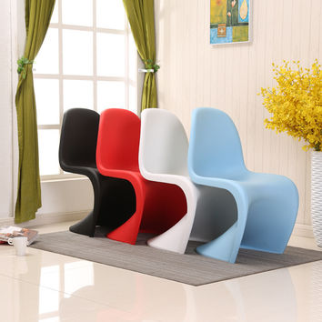 Plastic S-shaped Creative Cafe Hotel Modern Dining Chair White-plastic-chair Acrylic-chair Desk Chairs Restaurant Tables