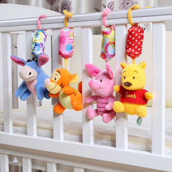Baby Rattles 1pcs set Newborn toys baby stroller toy Winnie cartoon baby bed rattle bebe brinquedo baby plush toys