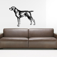 Weimaraner Dog Puppy Breed Pet Animal Family Wall Sticker Decal Mural 2904