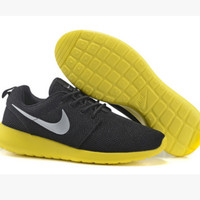 NIKE Women Men Running Sport Casual Shoes Sneakers  Black Yellow