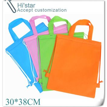 30*38CM 20pcs  hot sell in Canada  Best fashion customized top quality shopping bag,cotton tote bag