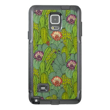 Cactus Flower Pattern Samsung Galaxy Note 4 Case