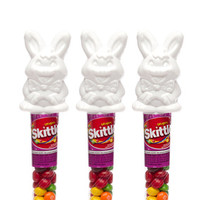 Skittles Candy Filled Easter Bunny Toppers: 24-Piece Display