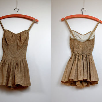 Vintage 1950s bathing suit/ 50s bathing suit/ 50s swimsuit by Cole Jr.