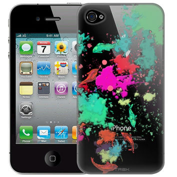 Apple iPhone 4 Abstract Paint with Fish Case