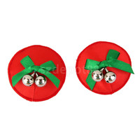Ladies Christmas Bell Round Shaped Disposable Nipple Covers Breast Petals Stickers RNC-046