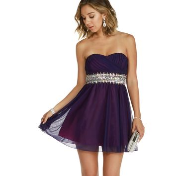 Brittney-purple Homecoming Dress