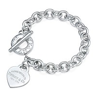 Tiffany & Co. -  Return to Tiffany™ heart tag toggle bracelet in sterling silver, medium.
