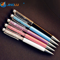 5 Pcs / Lot Crystal Pen Diamond Ballpoint Pens Stationery Ballpen Caneta Novelty Gift Zakka Office Material School Supplies