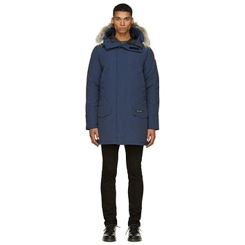 Canada Goose Blue Down And Fur Langford Parka - Boaety