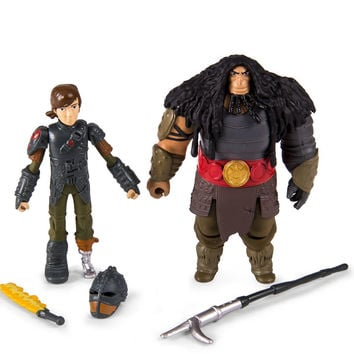 How to Train Your Dragon 2 - Hiccup vs Drago Figures