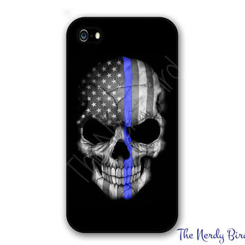 Thin Blue Line Phone Case for Apple iPhone 4, 5, 5c, 6 and 6 plus & Samsung Galaxy s3, s4 and s5 and Phone Stand - Add Your Own Photo