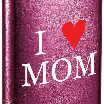 Visol Mother's Day I Love Mom Hot Pink Flask