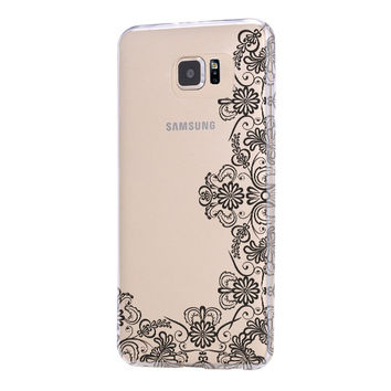 Lace Floral Galaxy s6 Case Galaxy S6 Edge Case Galaxy S5 Clear Hard case C155