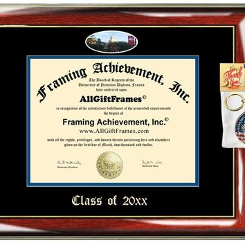 AllGiftFrames Custom Diploma Frame Embossed College Best Graduation Degree Frame Shippensburg University Double Mat Campus Fisheye Picture Frame Cheap Degree Shippensburg Gift