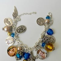 Christian Holy Medal Virgin Mary Catholic Charm Religious Bracelet