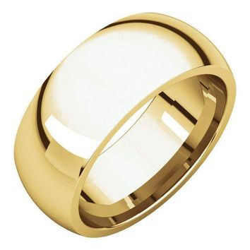 14k Yellow Gold Dome Comfort Fit Wedding Band