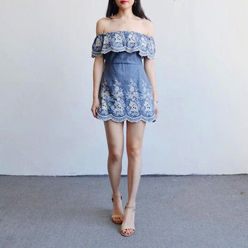 20e0cebaa8 Slim Denim Zippers One Piece Dress  11612164687