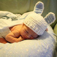 Easter baby bunny hat
