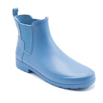 Hunter Women's Blue Original Refined Chelsea Boots