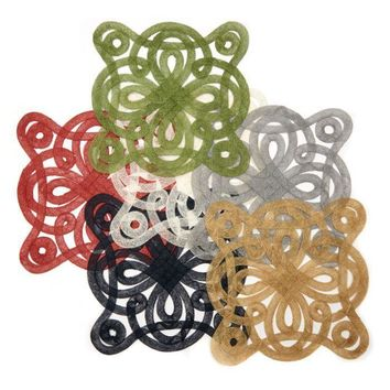 Medallion Sinamay Placemat S/2   6 Colors