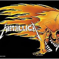 Metallica Poster Flag Flaming Skull Logo Tapestry