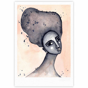 "Stacey-Ann Cole ""Yearning African American Art"" Beige Black Fine Art Gallery Print"